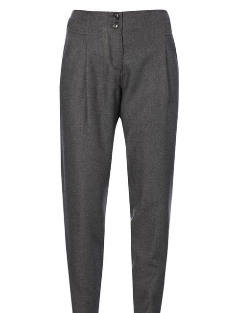<p>French Connection wool tapered trousers, £82</p>