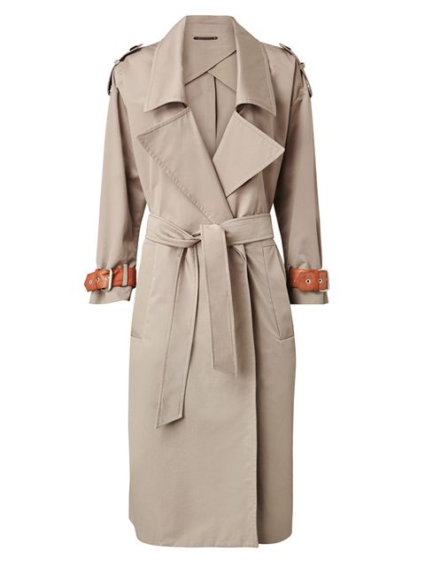 """<p><a href=""""http://www.allsaints.com/women/coats/allsaints-farrah-coat/?colour=1666&category=117"""" target=""""_blank"""">All Saints</a> trench coat, £278</p>"""