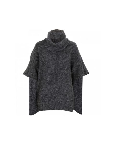 "<p>Marc by Marc Jacobs 'Isadore' knitted poncho, £240, at <a href=""http://www.harveynichols.com/womens/categories-1/designer-knitwear/jumpers/s395064-isadore-knitted-poncho.html?colour=GREY"">Harvey Nichols</a></p>"