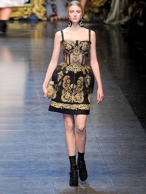 """<p>BROCADE</p><p>From Russian inspired folksy brocade, to the elegant streams of crisp silver thread sparkling on Stella McCartney's chic sporty autumn 12 line, opulent polished brocade makes for an essential upmarket finish for autumn.</p><p><a href=""""htt"""
