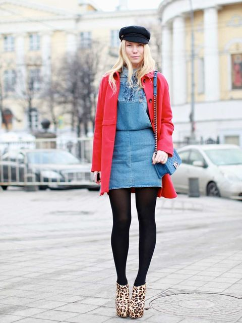 <p>Zhanna RomaBenetton coat, Topshop shirt, Topshop dress, Chanel bag, Topshop boots.  </p>