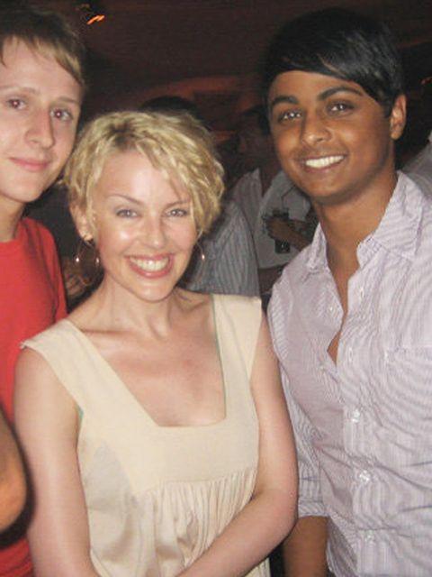 <p>Sunil MaKan meets Kylie Minogue in Pacha, 2007</p>