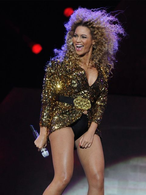 <p>Beyonce performs at Glastonbury</p>
