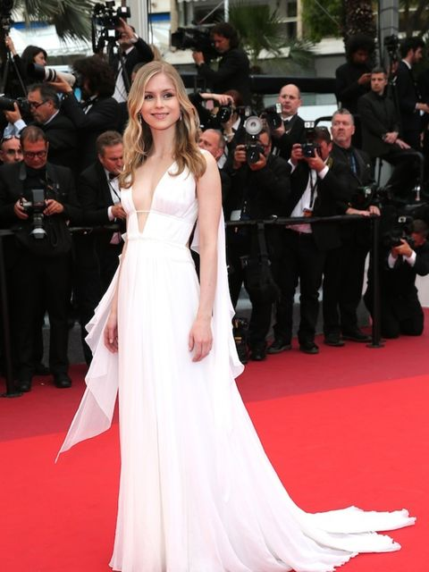 <p>Erin Moriarty attends the closing ceremony of the 69th annual Cannes Film Festival</p>