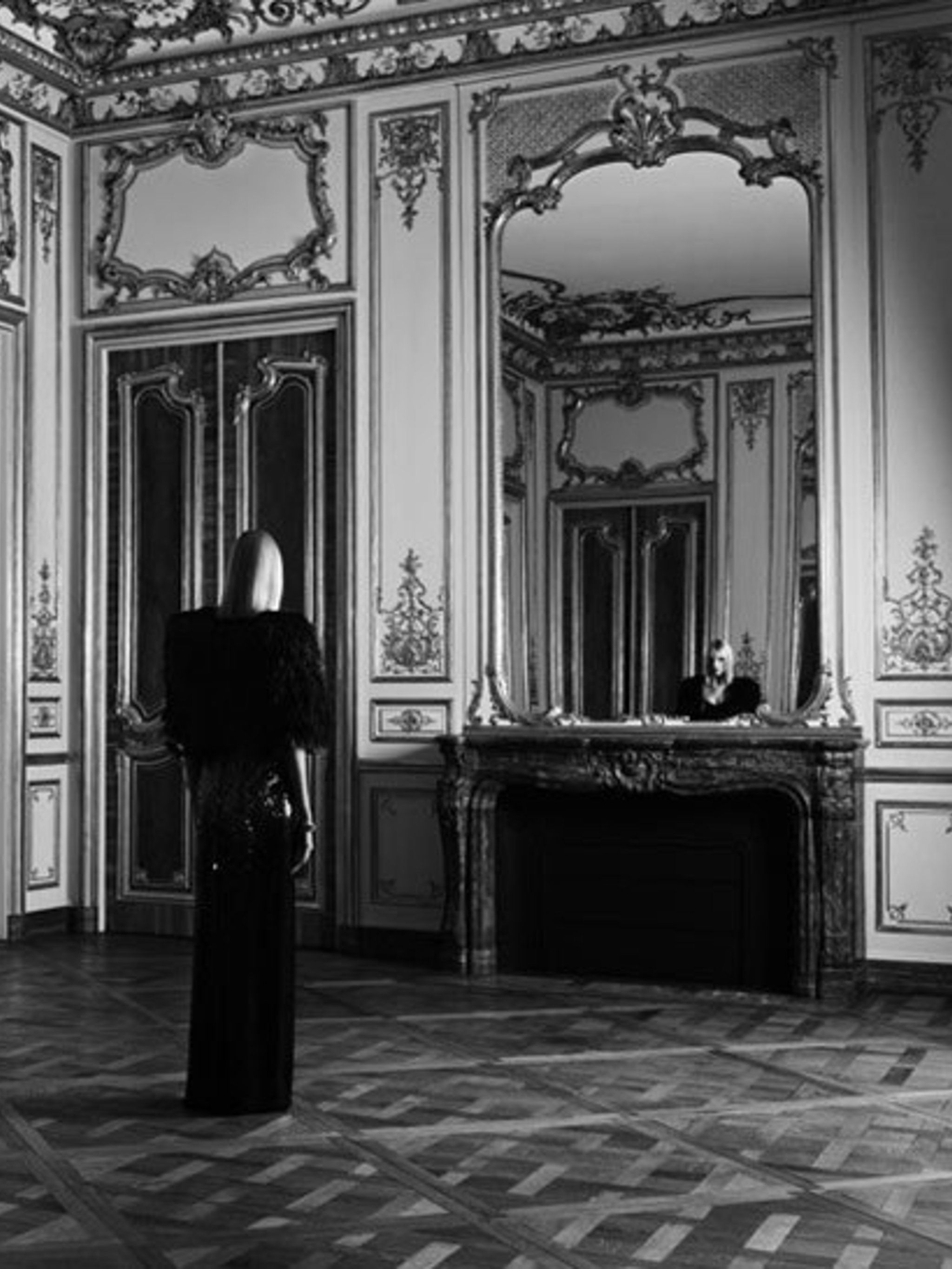 <p>Anja Rubik in Saint Laurent campaign</p>