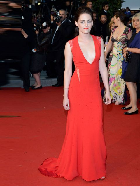 "<p>""Great crimson color and length. Elegant. But with a revealing neckline that keeps it young and modern.""</p><p><a href=""http://www.elleuk.com/star-style/celebrity-style-files/kristen-stewart-s-best-looks"">Kristen Stewart</a> wears a <strong>Reem Acra</"