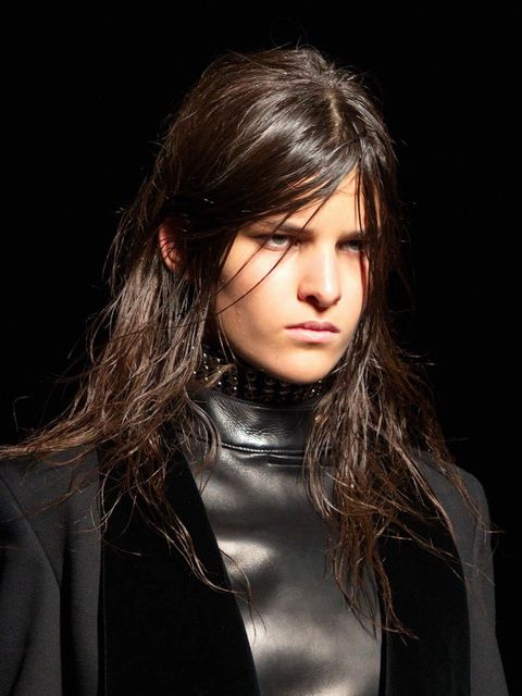"""<p><strong><a href=""""http://www.elleuk.com/catwalk/alexander-wang/autumn-winter-2015"""">Alexander Wang</a></strong></p>  <p>The look: Nocturnal goth</p>  <p>Hair stylist: <a href=""""http://www.elleuk.com/beauty/the-beauty-experts-you-need-to-know-charlotte-til"""
