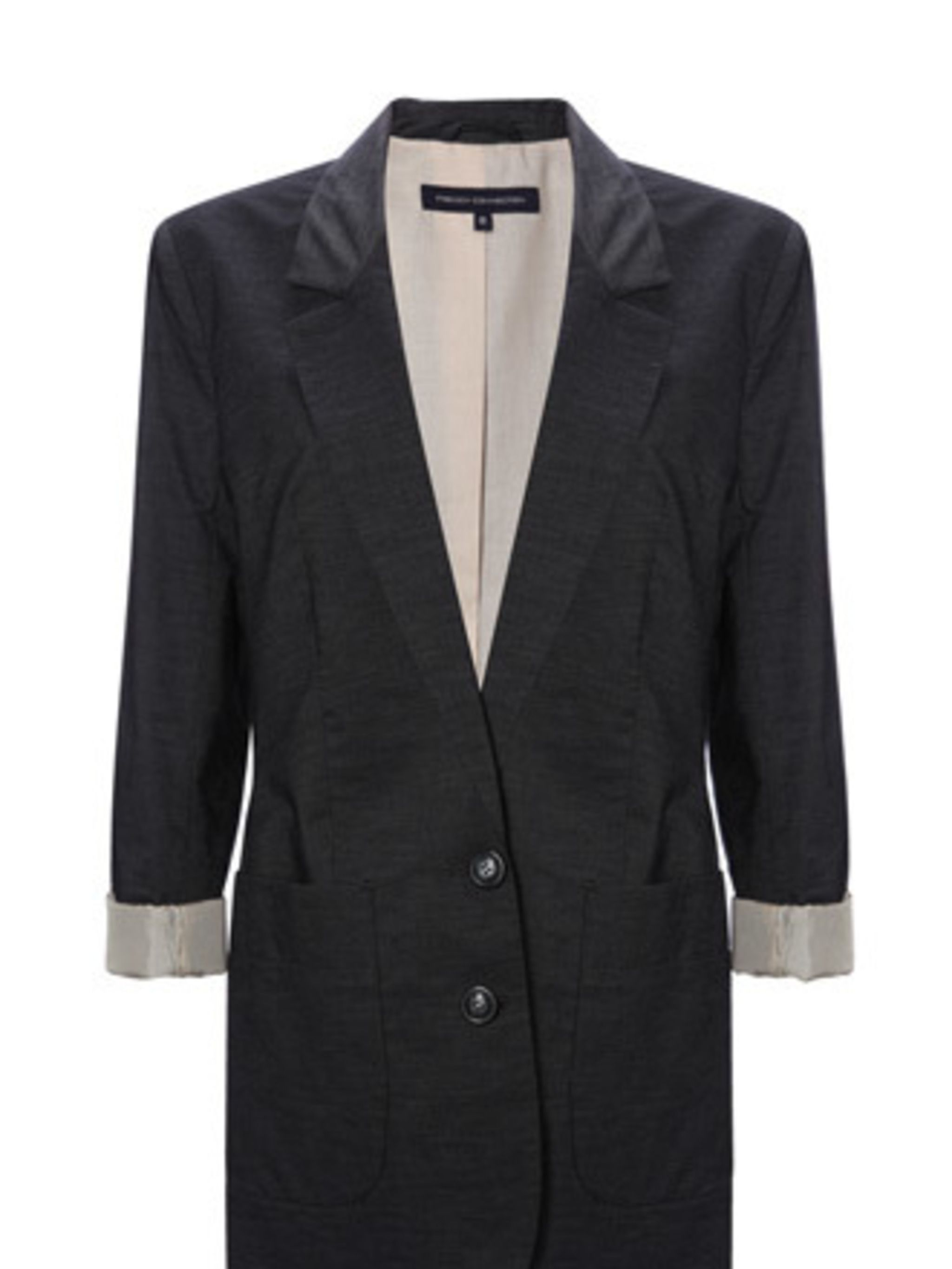 """<p>Thanks to its practicality and ability to smarten up any outfit, the blazer's popularity has yet to wane. This light-weight cotton version is a must-buy for your new season wardrobe.</p><p>Cotton blazer, £115 by <a href=""""http://www.frenchconnection.com"""