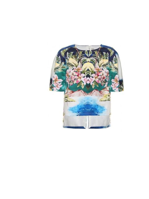 "<p>Stella McCartney Hawaiian print top, £519, at <a href=""http://www.farfetch.com/shopping/women/stella-mccartney-printed-top-item-10156077.aspx"">Farfetch</a></p>"