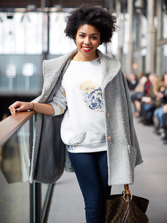 <p>Shelly Mayanda (thepeppymay.blogspot.com) wears: Vintage coat, Zara jumper, Pepe jeans.</p>
