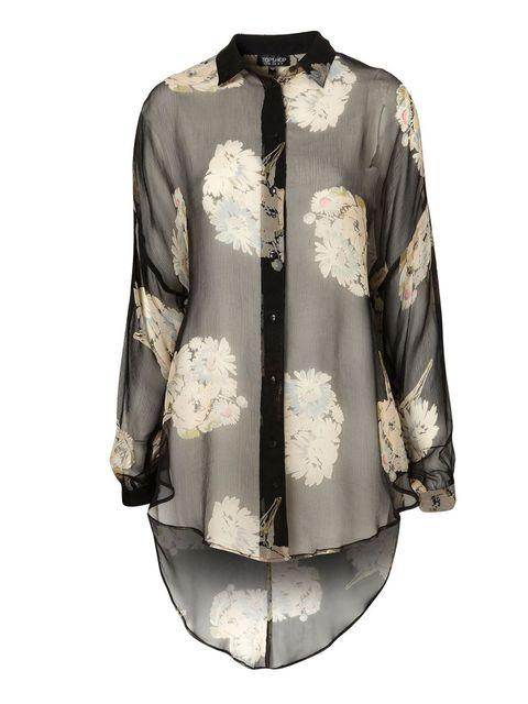 "<p>Topshop sheer floral shirt, £38</p><p><a href=""http://shopping.elleuk.com/browse?fts=topshop+oversize+floral+shirt"">BUY NOW</a></p>"