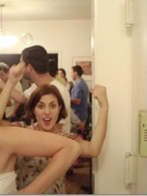 <p>Christina Simone, Workflow Director </p><p>March 13, 2008 at a party in Williamsburg, Brooklyn. Flexing my guns, as usual. </p>