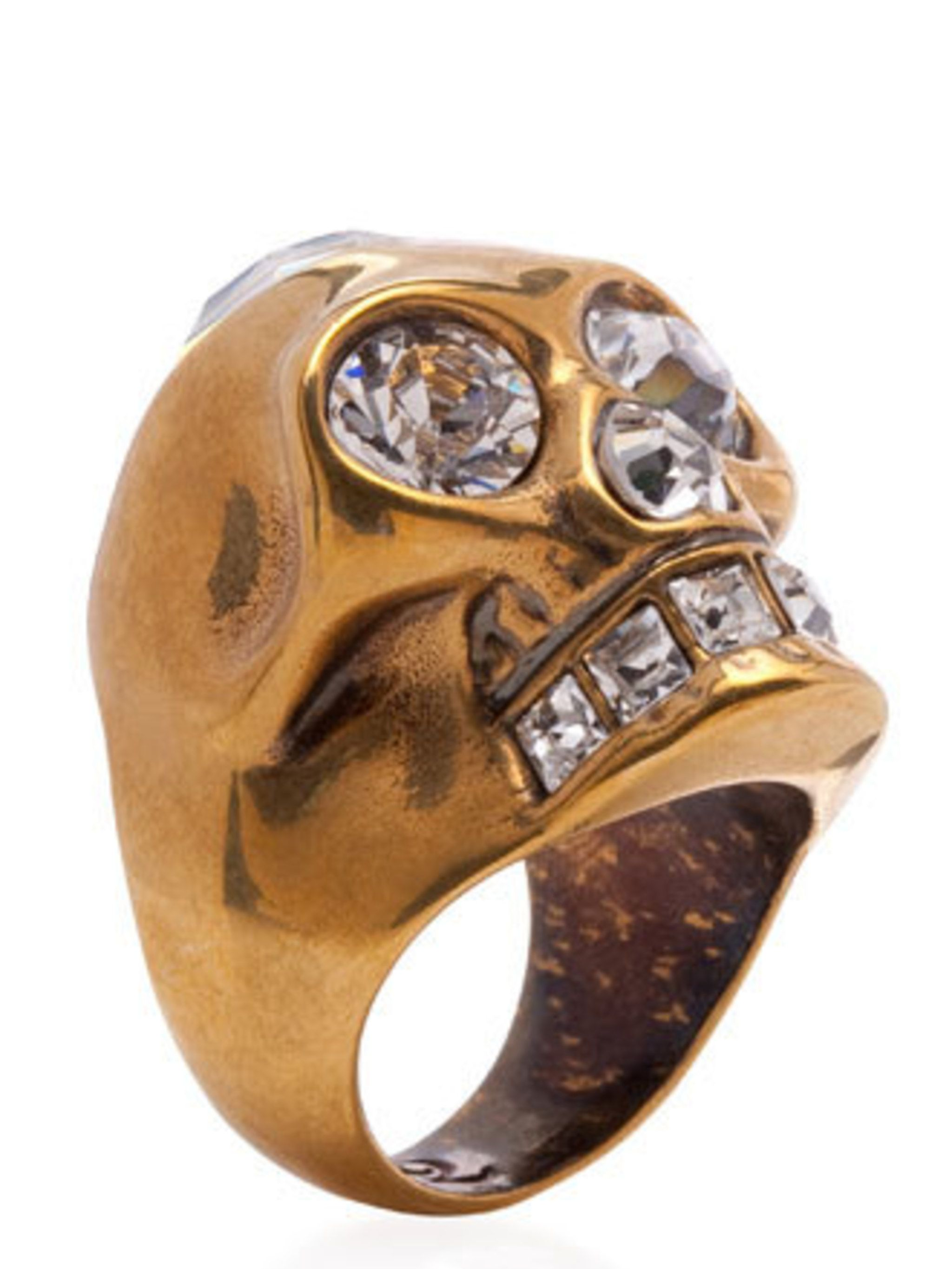 "<p>This statement ring will get you noticed and add a bit of sparkle to your outfit on sun-free days.Ring, £180 by Alexander McQueen at <a href=""http://shop.harveynichols.com/fcp/product/-//Heart-skull-cocktail-ring/330887"">Harvey Nichols</a></p>"