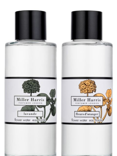 """<p>Team ELLE fell in love with this floral water from Miller Harris. It works as a face toner, light fragrance and, if you're feeling all Stepford Wives, linen water for your iron too.</p><p>Flower Water, from £15 by <a href=""""http://www.millerharris.com/e"""