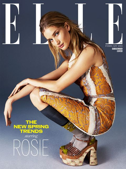 Rosie Huntington-Whiteley, subscriber cover, February 2015.