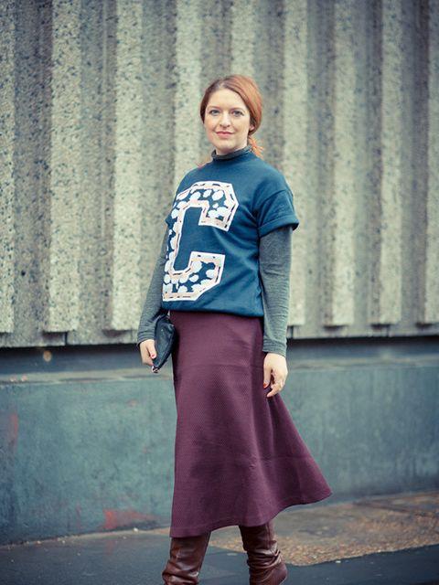<p>Natasha Pearlman- Deputy Editor.</p>  <p>Etre Cecile jumper, Zara top, Banana Republic skirt.</p>