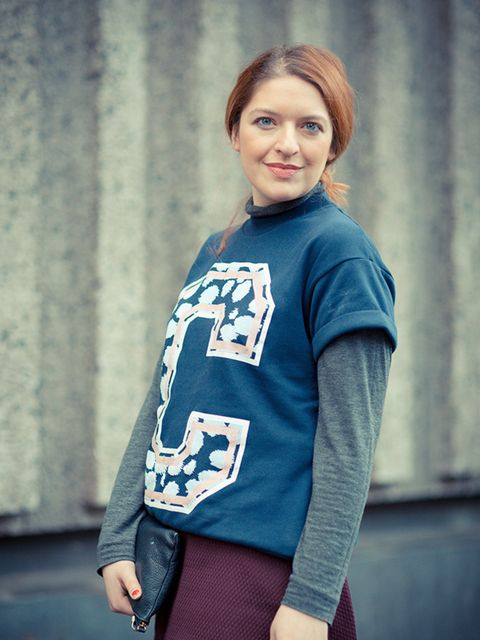 <p>Natasha Pearlman- Deputy Editor.</p>  <p>Etre Cecile jumper, Zara top.</p>