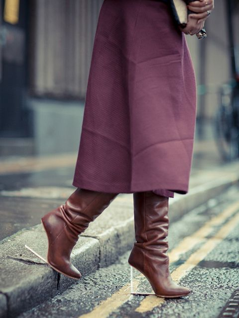 <p>Natasha Pearlman- Deputy Editor.</p>  <p>Banana Republic skirt, Maison Margiela for H&M boots.</p>
