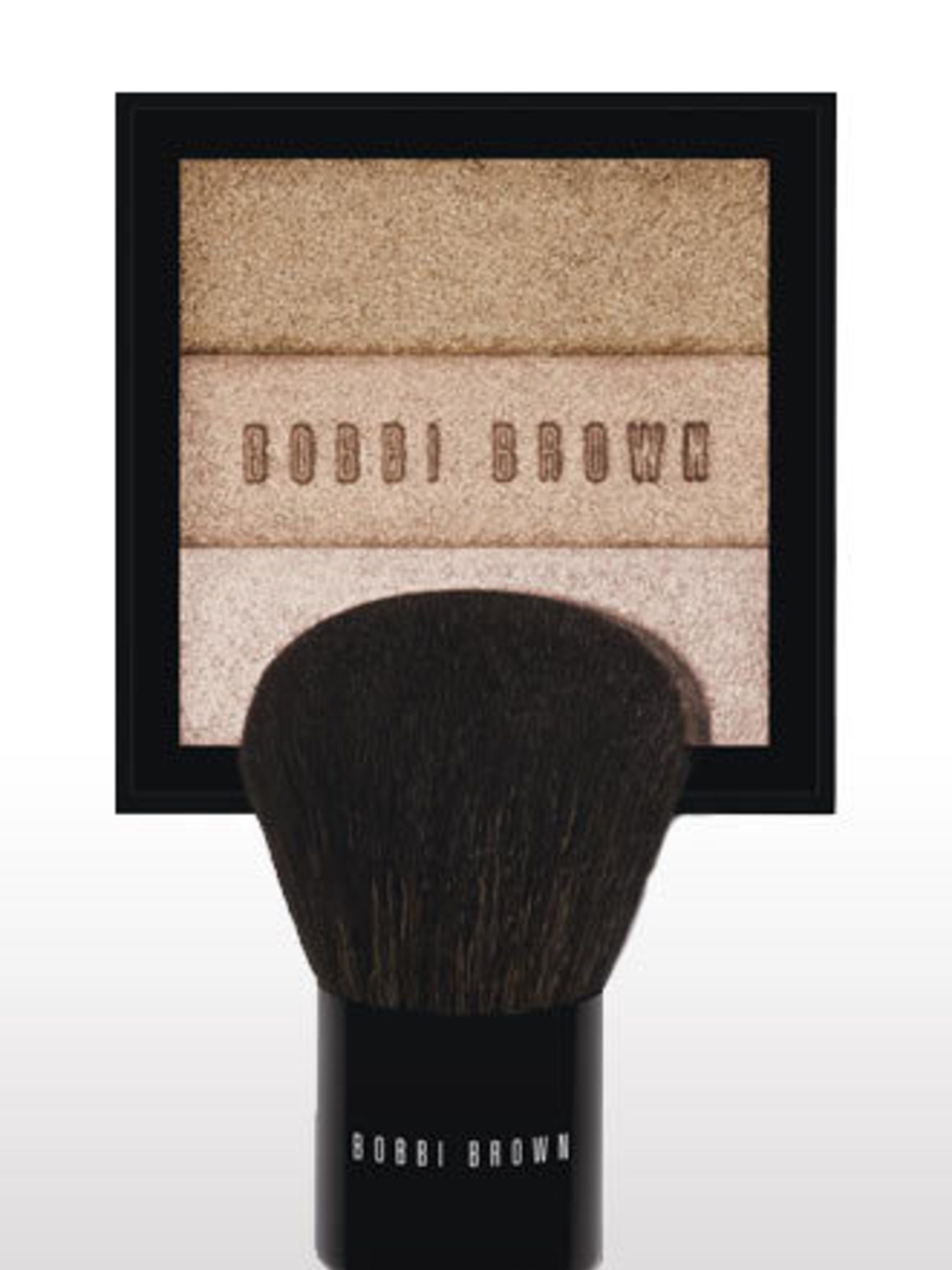 "<p>Body Shimmer Brick, £50, and Body Brush, £50, by <a href=""http://www.bobbibrown.co.uk/home.tmpl"">Bobbi Brown</a>. For stockists call 0870 034 2566.</p><p>A must-pack product for summer holidays, this versatile bronzer can be swept down legs, arms and d"