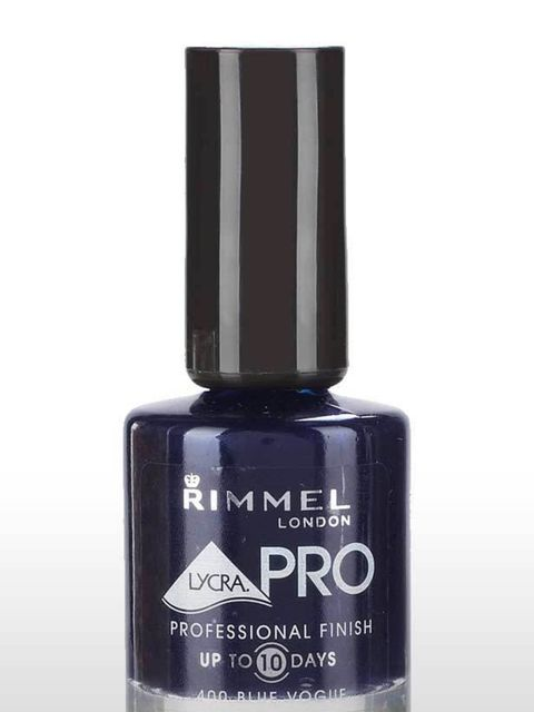 "<p>Nail Lacquer in Blue Vogue, £4.49 by <a href=""http://www.rimmellondon.com/default.aspx"">Rimmel</a></p>"