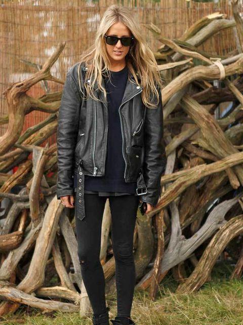 <p>Photo by Anthea Simms.Fur, 22, Works in music. Vintage biker jacket, American Apparel leggings, Ray Ban sunglasses.</p>