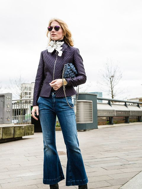 <p>THE CROPPED KICK-FLARE</p>  <p>Think of this as the perfect opportunity to show-off those look-at-me statement ankle boots, making these the perfect Friday night jeans. They also work particularly well with a pair of ankle-tie sandals.</p>