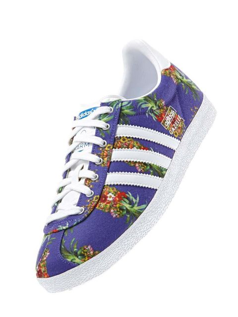 """<p>Inject some brazilian spirit .. One of the coolest collaborations this year.. Adidas Originals x Farm. </p><p>Gazelle OG Trainers £67 by <a href=""""http://www.adidas.co.uk/gazelle-og-shoes/D67721_550.html"""">Adidas</a></p>"""