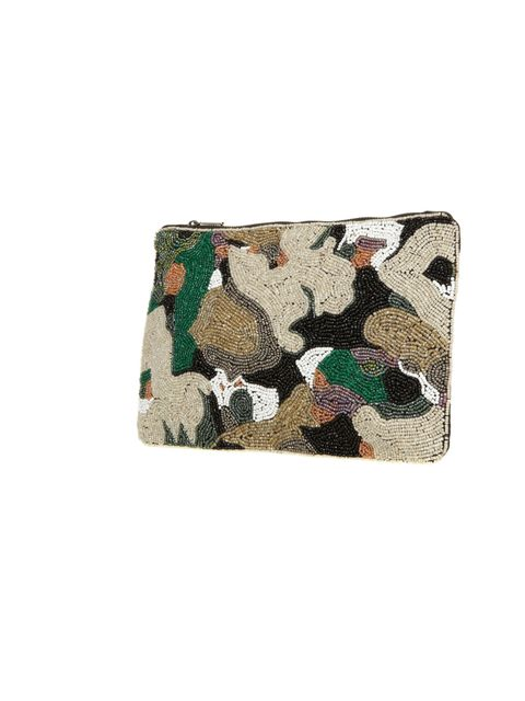 "<p>Beaded camouflage? It's a surprising hit… Topshop camo clutch, £38</p><p><a href=""http://shopping.elleuk.com/browse?fts=topshop+camo+clutch"">BUY NOW</a></p>"