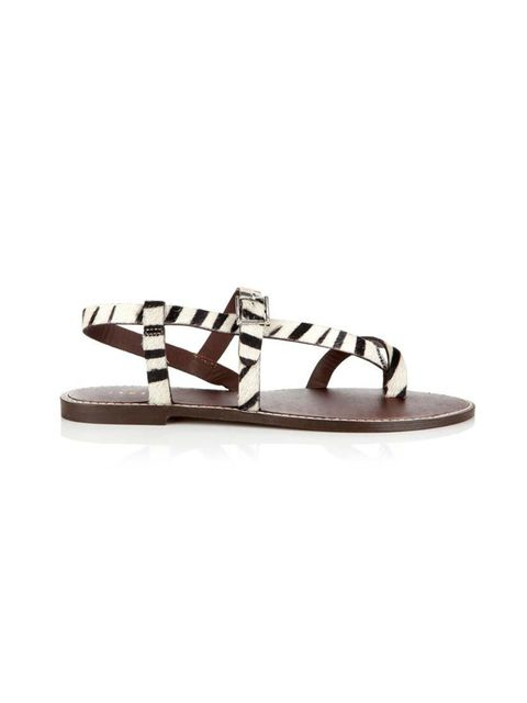 """<p>Clash graphic animal print against pretty florals.</p>  <p><a href=""""http://www.jigsaw-online.com/products/marina-sandal-10278"""" target=""""_blank"""">Jigsaw</a> sandals, £49</p>"""