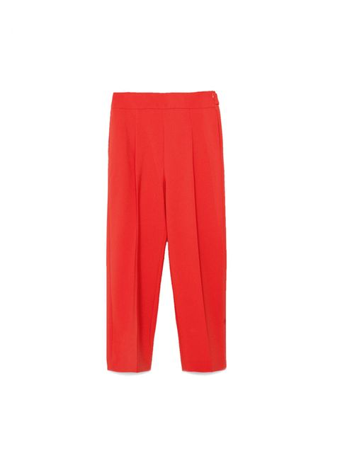"""<p>Bold-colour trousers are made for ourSub-Editor Claire Sibbick.</p>  <p><a href=""""http://www.zara.com/uk/en/woman/trousers/view-all/loose-fit-trousers-c719022p2672543.html"""" target=""""_blank"""">Zara </a>trousers, £29.99</p>"""