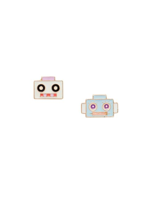 """<p>Accessories Editor Donna Wallace is feeling playful today with these robot earrings.</p>  <p><a href=""""http://www.asos.com/ASOS/ASOS-Robot-Stud-Earrings/Prod/pgeproduct.aspx?iid=5078590&cid=6992&sh=0&pge=0&pgesize=36&sort=-1&clr=Multi&totalstyles=382&g"""