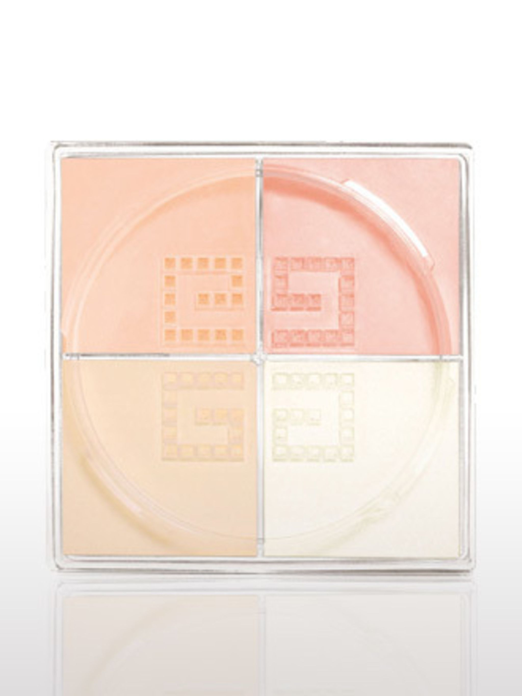 <p>Strictly for the porcelain skinned, this powder quad adds a shimmering, peachy hue to your skin. It also gives this season's all important matte finish.</p><p>Prisme Libre, £30.82 by Givenchy. For stockists call <a> 01932 233 824.</a></p>
