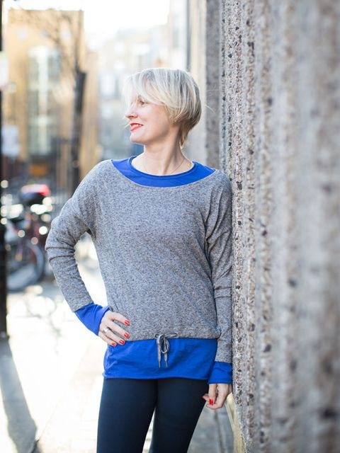 """<p><a href=""""http://www.sweatybetty.com/clothes/tops/long-sleeved-tops/stonemarl-chitta-l/s-yog-top/"""" target=""""_blank"""">Chitta</a>yoga top, £60</p>  <p><a href=""""http://www.sweatybetty.com/"""" target=""""_blank"""">Yoga superfine tee</a>, £50</p>"""