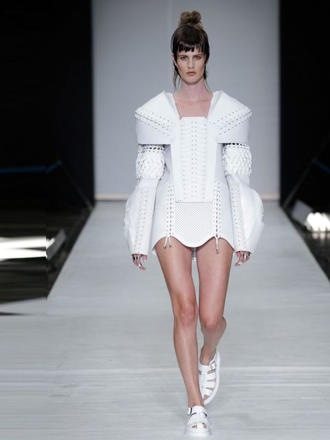 "<p><a href=""http://www.annesofiemadsen.com"">Anne Sofie Madsen</a></p><p>Anne Sofie Madsen knows how to push boundaries. We loved her motorcycle pants and frilled white leather dresses, marveled at the origami-esq structure of the jackets and came to the c"