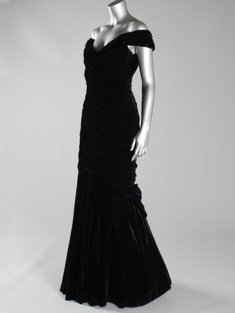 <p>The famous Victor Edelstein gown worn by Princess Diana at the White House dinner</p>