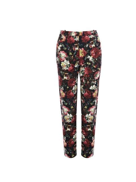 "<p>I'll wear these floral trousers with a black Alexander Wang vest and a pair of chelsea boots.</p><p>- Molly Haylor, Fashion Assistant</p><p><a href=""http://www.oasis-stores.com/winter-rose-print-audrey-trouser/clothing/oasis/fcp-product/3450162858"">Oas"