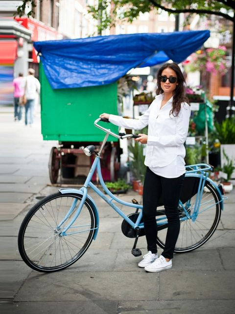 <p>Dama, 25. Delta bicycle, Zara shirt, Season of Humanity jeans, Converse trainers, Tiffany necklace.</p><p>Photo by Stephanie Sian Smith</p>