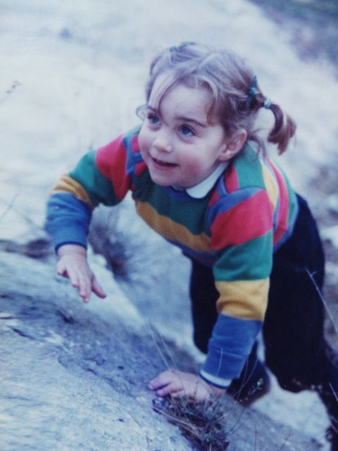 "<p><a href=""http://www.elleuk.com/star-style/celebrity-style-files/kate-middleton-s-style-file"">Kate Middleton</a>, aged three, on a family holiday in the Lake District.</p>"