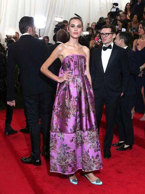Alexa Chung wears Erdem to the Met Gala, May 2015.