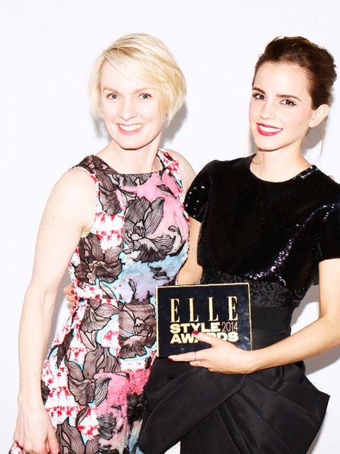 <p>Emma Watson and Lorraine Candy in 2014</p>