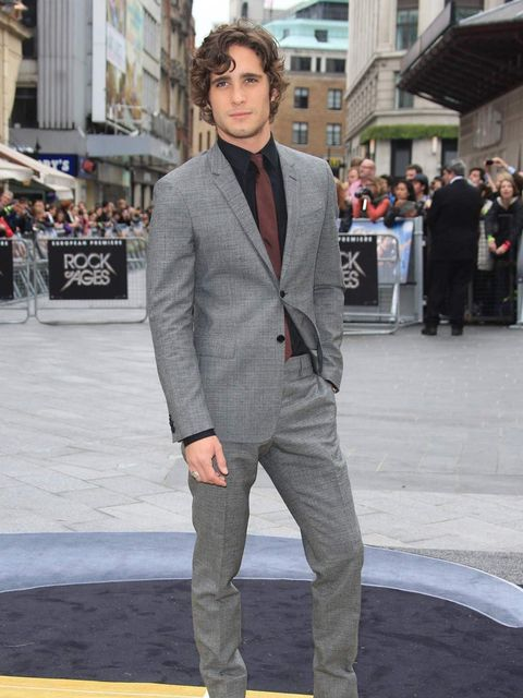 <p>Diego Boneta (a singer called Drew Boiley and love interest to Sherrie) is a singer in real life, giving him a slight advantage over some of the other cast in Rock Of Ages. He revealed at the European premiere in London that he is signed to Adam Levine