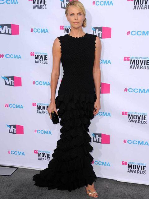 Charlize Theron wore Alaia to the Critics' Choice Awards.