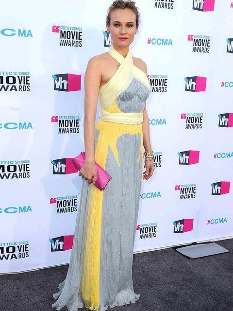 <p>Diane Kruger in a Prada gown.</p>