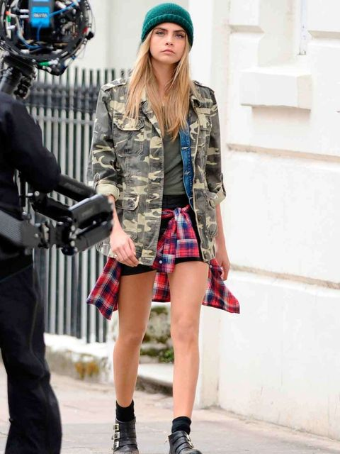 <p>Cara Delevingne on her Pepe Jeans shoot</p>