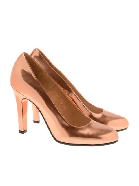 """<p>Maison Martin Margiela metallic heels, £425, at <a href=""""http://www.brownsfashion.com/Product/Women/Women/Accessories/Shoes_and_Boots/Metallic_leather_court_shoes/Product.aspx?p=3446105&pc=1949741&cl=4"""">Browns Fashion</a></p>"""