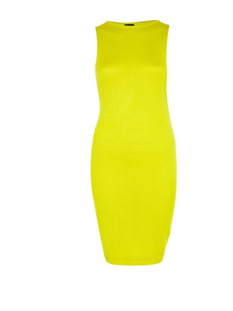 <p>Yellow slash back dress £50</p>