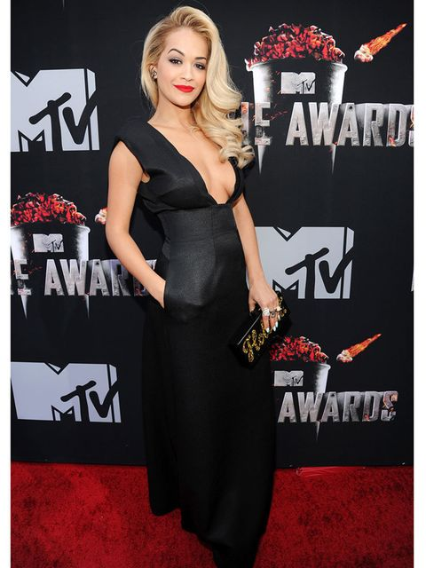 "<p>ELLE cover star <a href=""http://www.elleuk.com/star-style/celebrity-style-files/rita-ora-s-best-looks-from-hip-hop-throwback-90s-high-street-to-red-carpet-glamourous-looks"">Rita Ora</a> wears Barbara Casasola to the 2014 MTV Movie Awards.</p><p><em><a"