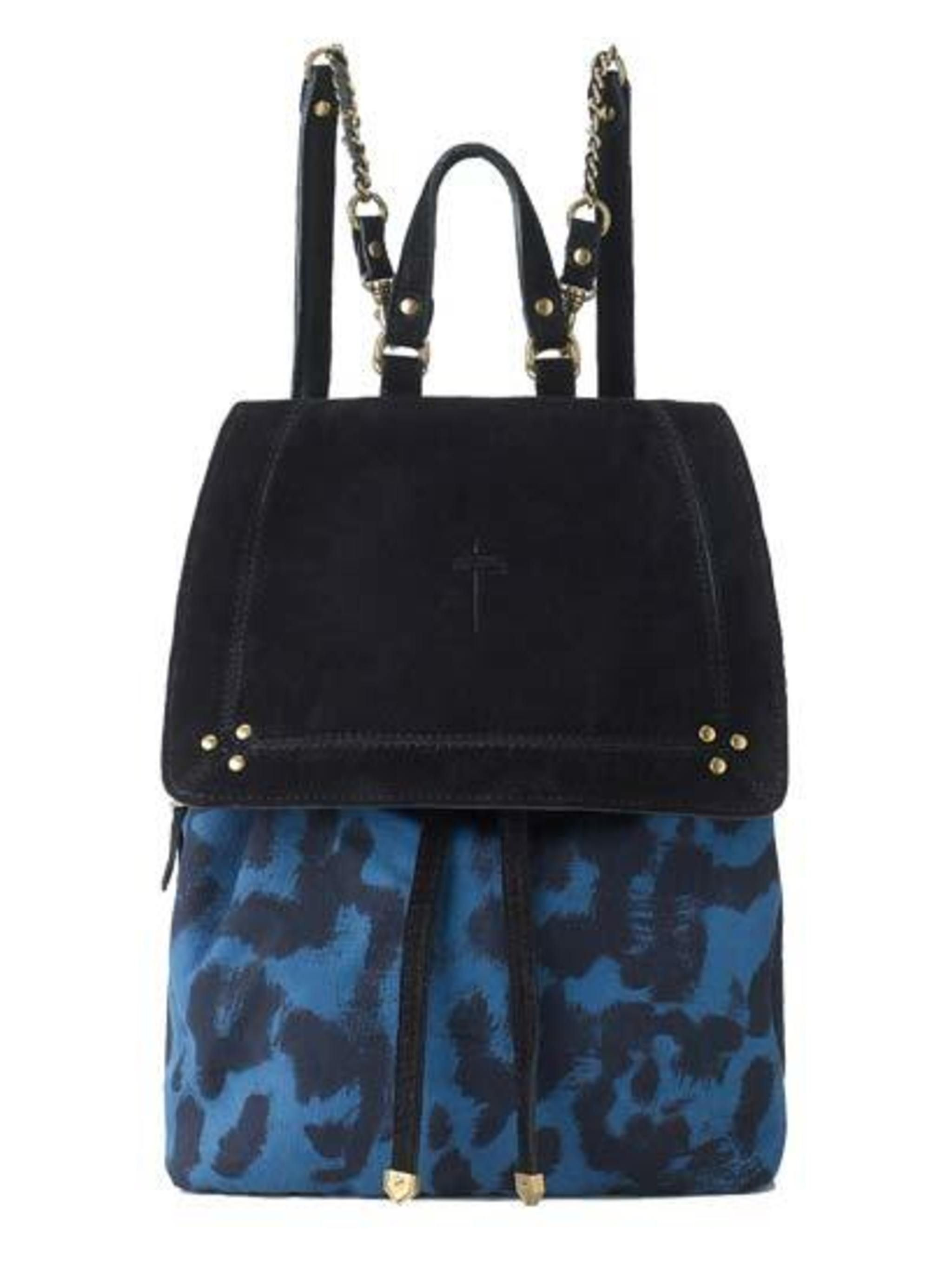 "<p>Who says a leopard can't change it's spots.. </p><p>Blue Leopard Backpack £310 by Jerome Dreyfuss at <a href=""http://www.avenue32.com/bags/all-bags/blue-leopard-florent-backpack-38501.html"">Avenue32</a></p>"