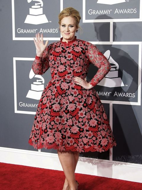 <p>Adele at the 2015 Grammy Awards</p>
