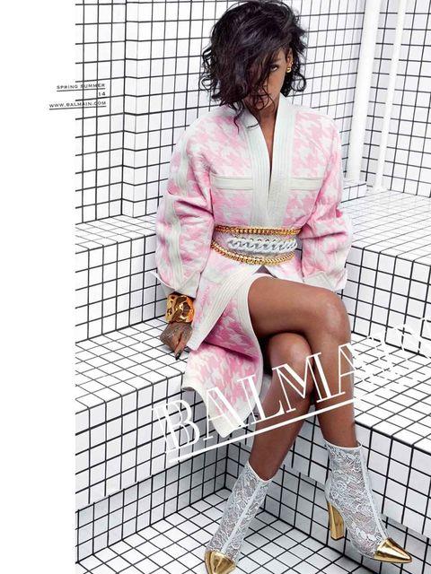 <p>Rihanna for Balmain SS14.</p>